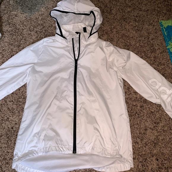 adidas Jackets & Blazers - Adidas Windbreaker Size Small (White)